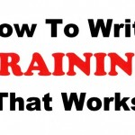 How To Write Training That Works: marketing training