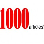 1,000 articles on How To Write Better – time to celebrate!