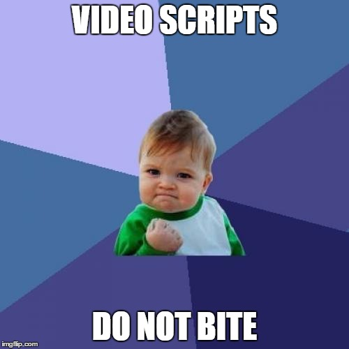 DIY video-ers - why proper video scripts save time and money, and don't bite