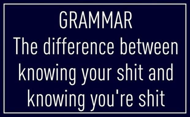 Laughing WITH - not AT - National Grammar Day, USA